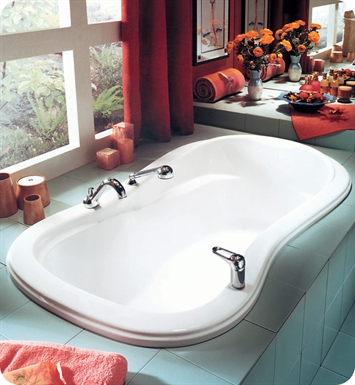 "Neptune PE60T Penelope 60"" Customizable Bathroom Tub With Jet Mode: Whirlpool Jets"