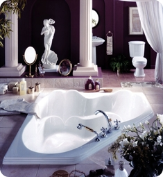 "Neptune AR60 Ariane 60"" Customizable Corner Bathroom Tub"