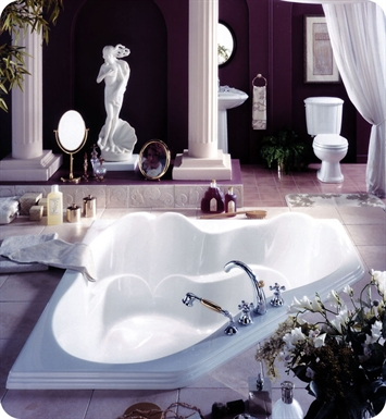"Neptune AR60TAM Ariane 60"" Customizable Corner Bathroom Tub With Jet Mode: Whirlpool + Mass-Air + Activ-Air Jets"