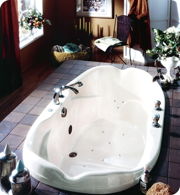 "Neptune EL70A Elysee 70"" Customizable Oval Bathroom Tub With Jet Mode: Activ-Air Jets"