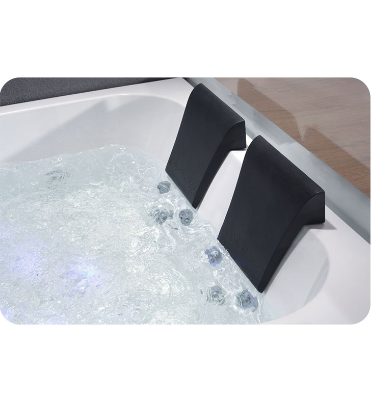 foot rounded clear modern double seat corner whirlpool bath tub