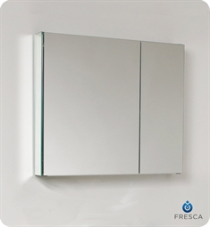 "Fresca 30"" Wide Bathroom Medicine Cabinet with Mirrors"