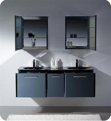 Fresca fvn17241224bl brillante 60 decor planet exclusive for Decorplanet bathroom vanities