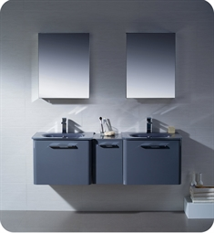 Fresca Brillante Decor Planet Exclusive Double Sink Modern Bathroom Vanity in Lavender Grey