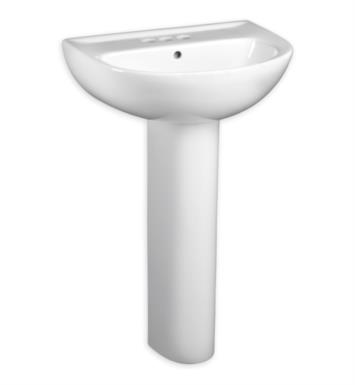 "American Standard 0467400.222 Evolution 22 Inch Pedestal Sink With Finish: Linen And Faucet Holes: 4"" Centers"