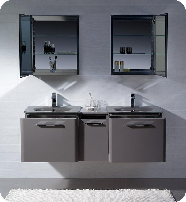 Fresca fvn17241224gr brillante 60 decor planet exclusive for Decorplanet bathroom vanities