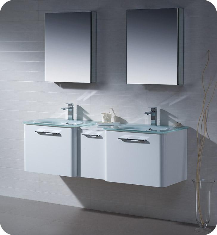 Fresca fvn17241224wh brillante 60 decor planet exclusive for Decorplanet bathroom vanities