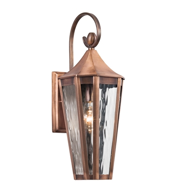 Kichler 49512ACO Rochdale Collection 1 Light Outdoor Wall Sconce in Antique Copper