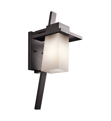 Kichler 49258AZ Stonebrook Collection 1 Light Large Outdoor Wall Sconce in Architectural Bronze