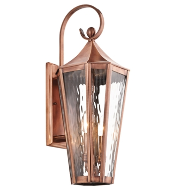 Kichler 49513ACO Stonebrook Collection 2 Light Large Outdoor Wall Sconce in Antique Copper