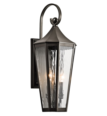 Kichler 49513OZ Stonebrook Collection 2 Light Large Outdoor Wall Sconce in Olde Bronze