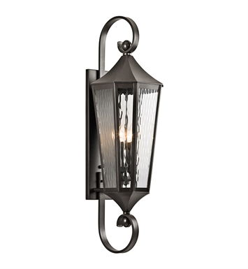 Kichler 49514OZ Stonebrook Collection 4 Light Large Outdoor Wall Sconce in Olde Bronze