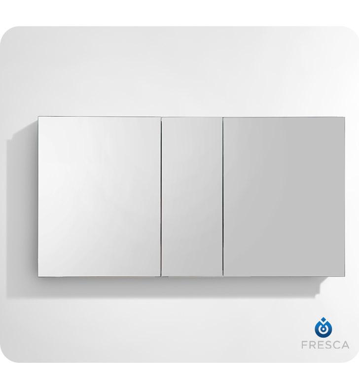 Fresca Fmc8013 50 Wide Bathroom Medicine Cabinet With Mirrors
