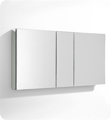 Fresca fmc8013 50 wide bathroom medicine cabinet with mirrors for Fresca 60 wide bathroom medicine cabinet w mirrors