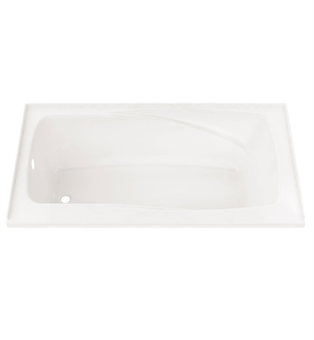 "Neptune Entrepreneur Juna 60"" x 32"" Customizable Jet Bathtub With Jet Mode: Whirlpool Jets And Drain Position: Left Side - Integrated Tiling Flange"
