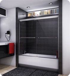 "Fleurco Banyo Cordoba 56"" Semi Frameless In Line Sliding Tub Doors"