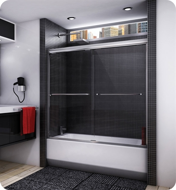 "Fleurco ET856  Banyo Cordoba 56"" Semi Frameless In Line Sliding Tub Doors"