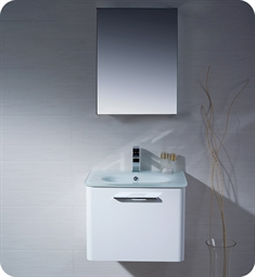 Fresca Brillante Decor Planet Exclusive Wall Mount Modern Bathroom Vanity in White
