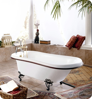 "Neptune Victoria 68"" Freestanding Soaker Bathroom Tub"