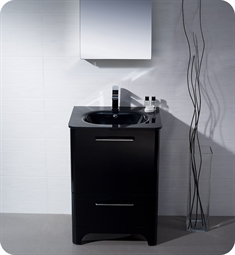 Fresca Brillante Decor Planet Exclusive Modern Bathroom Vanity in Black