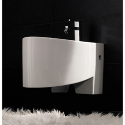 Nameeks 8209 Scarabeo Zefiro Wall Mounted Bidet in White