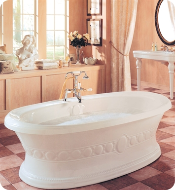 "Neptune UL72CMA Ulysse 72"" Freestanding Customizable Oval Bathroom Tub With Jet Mode: Mass-Air + Activ-Air Jets"