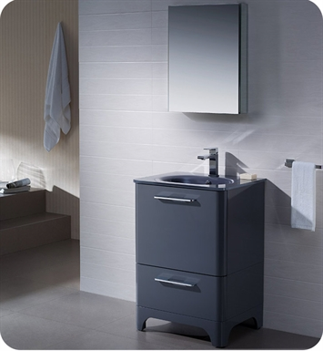 "Fresca FVN1725DB Brillante 23"" Decor Planet Exclusive Modern Bathroom Vanity in Lavender Grey"