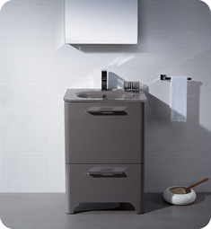 Fresca Brillante Decor Planet Exclusive Modern Bathroom Vanity in Stone Grey