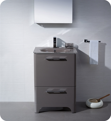 Fresca FVN1725GR Brillante Modern Bathroom Vanity in Stone Grey