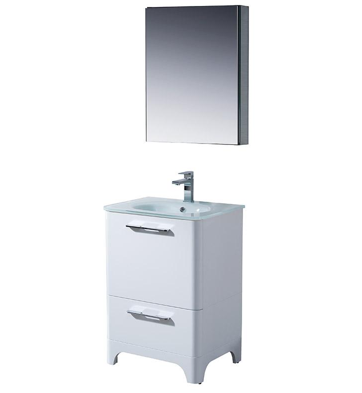 Fresca fvn1725wh brillante 23 decor planet exclusive for Decorplanet bathroom vanities