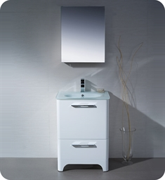 Fresca Brillante Decor Planet Exclusive Modern Bathroom Vanity in White