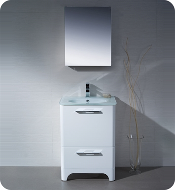 Fresca FVN1725WH Brillante Modern Bathroom Vanity in White