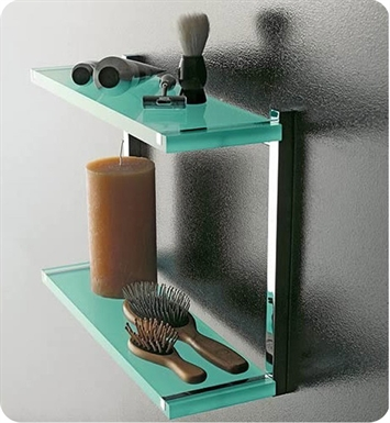 Nameeks 4542-14 Toscanaluce Bathroom Shelf With Finish: Black