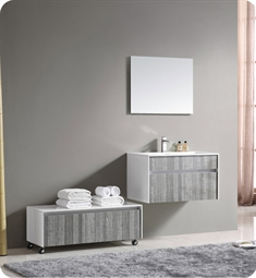 "Fresca FVN8509HA Siena 35"" Modern Bathroom Vanity with Mirror and Faucet in High Gloss Ash Gray"