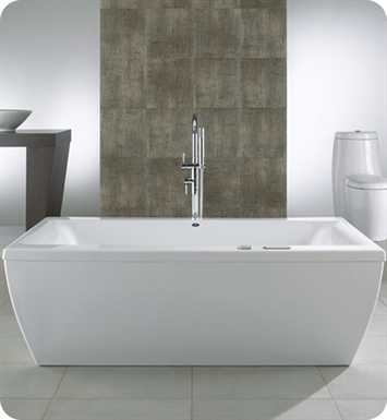 "Neptune Saphyr 72"" Rectangular Customizable Bathroom Tub With Jet Mode: Mass-Air + Activ-Air Jets"