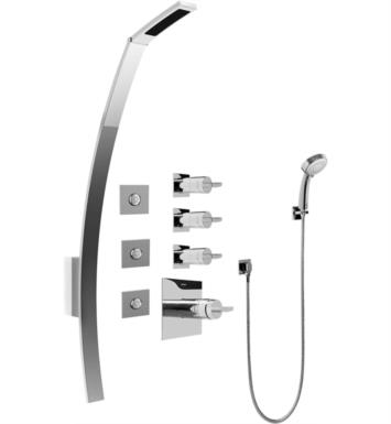 "Graff GF1.130A-C14S-PC 53 3/8"" Thermostatic Shower Set with Body Sprays and Handshower With Finish: Polished Chrome And Rough / Valve: Trim + Rough"