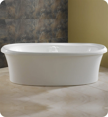 "Neptune ZI72M Zircon 72"" Freestanding Customizable Oval Bathroom Tub With Jet Mode: Mass-Air Jets"