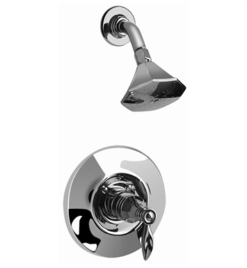 Graff G-7110-LM14-SN Topaz Pressure Balancing Shower Set With Finish: Steelnox (Satin Nickel)
