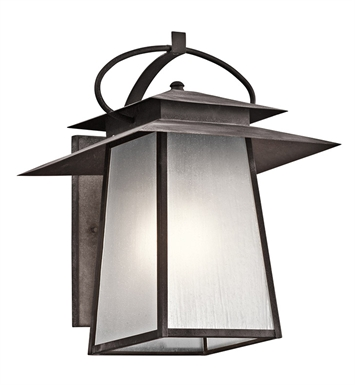 Kichler 49532WZC Woodland Lake Collection 1 Light Outdoor Wall Sconce in Pewter