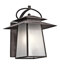 Kichler Woodland Lake Collection 1 Light Outdoor Wall Sconce in Pewter
