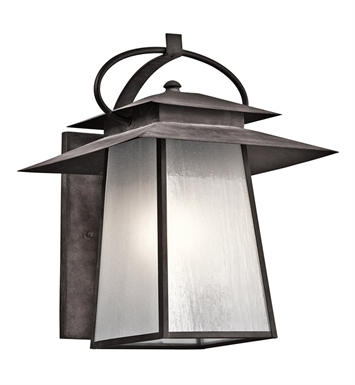 Kichler 49533WZC Woodland Lake Collection 1 Light Outdoor Wall Sconce in Pewter