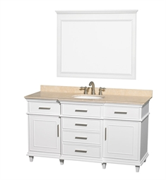 "Berkeley 60"" Modern Bathroom Vanity Set by Wyndham Collection in White"