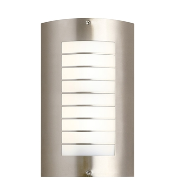 Kichler 6048NI Two Light Outdoor Wall Sconce in Brushed Nickel