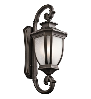 Kichler 9099RZ Salisbury Collection 4 Light Outdoor Wall Sconce in Rubbed Bronze