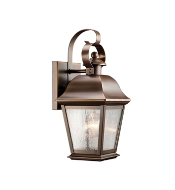 Kichler 9707OZ 1-Bulb Outdoor Wall Sconce in Olde Bronze Finish from the Mount Vernon Collection