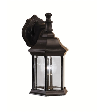 Kichler 9776BK Chesapeake Collection 1 Light Outdoor Wall Sconce in Black (Painted)