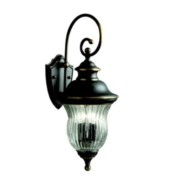 "Kichler 9452OZ Sausalito 3 Light 9 1/2"" Incandescent Outdoor Wall Sconce in Olde Bronze"
