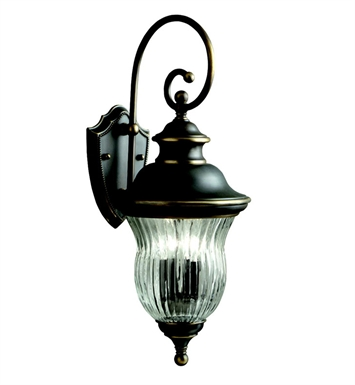 Kichler 9452OZ Sausalito Collection 3 Light Outdoor Wall Sconce in Olde Bronze