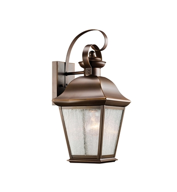 Kichler Mount Vernon Collection 1 Light Outdoor Wall Sconce in Olde Bronze
