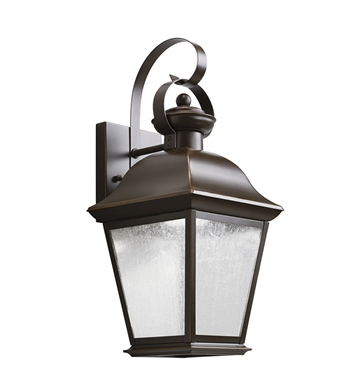 Kichler 9708OZLED Mount Vernon Collection 1 Light Outdoor Wall Sconce in Olde Bronze